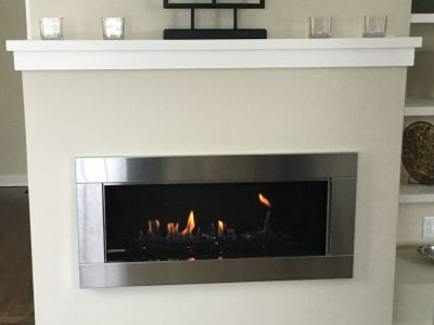 Fireplace surrounds on stone for Bullock fire dampers
